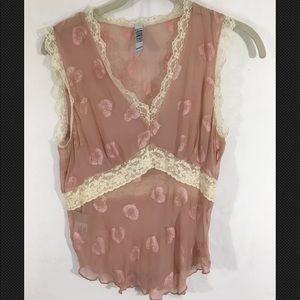 Laundry by Shelli Segal Sheer blouse with lace
